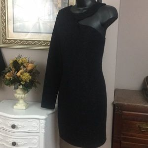 BCBGeneration One-Shoulder Bodycon Dress Sz M